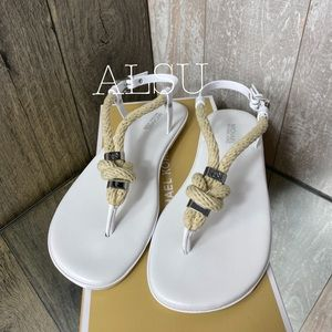 Michael Kors Holly Jelly Sandal White W AUTHENTIC